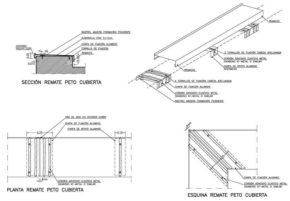 Albardilla zinc ad arquitectura for Terraza significado