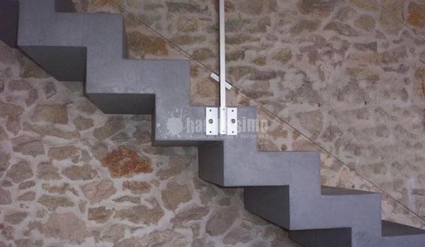 Pavimentos continuos hormig n pulido mortero - Escalera prefabricada de hormigon ...