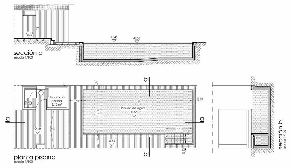 Proyecto piscina for Piscina infinita construccion