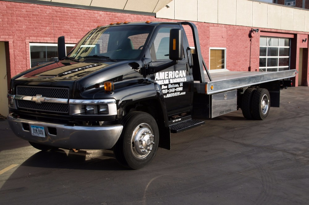 medium resolution of for sale used 2003 chevrolet 5500 black rollback tow truck flatbed duramax