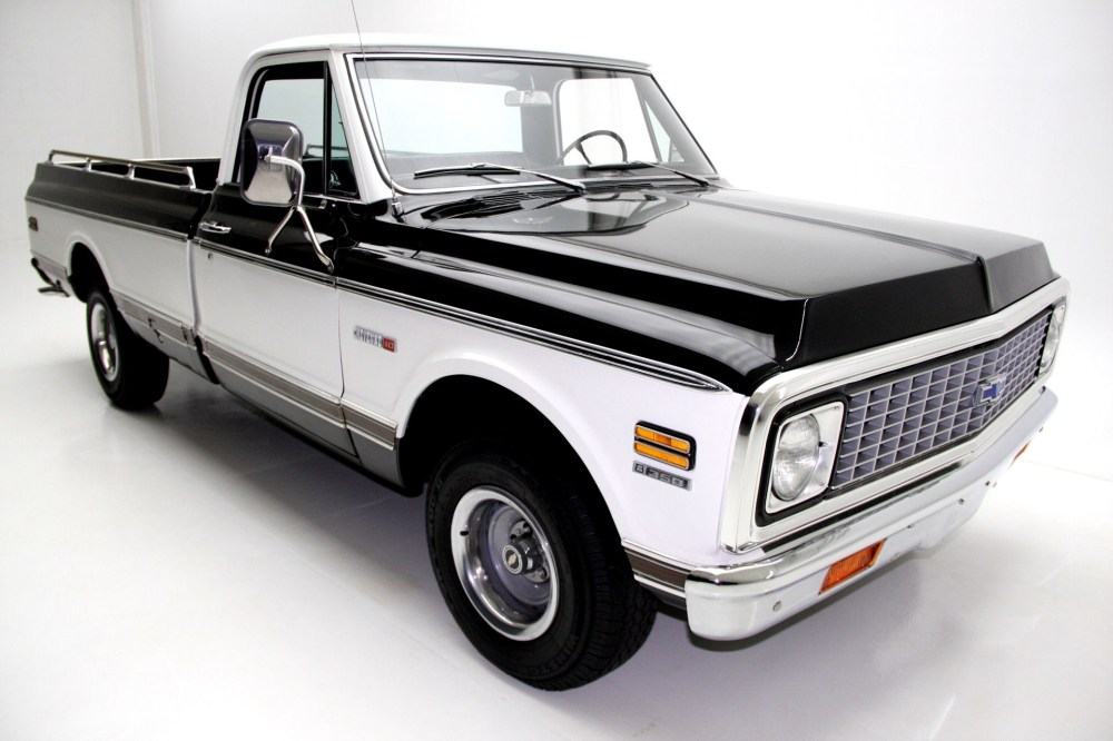 medium resolution of 1971 chevrolet cheyenne c10 pickup black factory ac