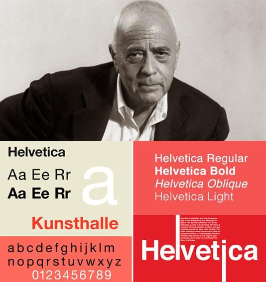 Typographer Max Miedinger