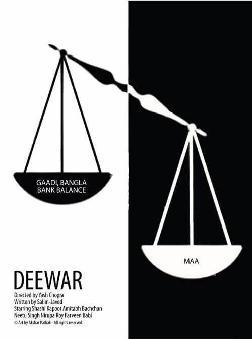 Indian Graphic Artists: Akshar Pathak's Deewar Poster