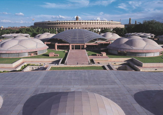 Top 10 Architects in India: Parliament Library Building in New Delhi