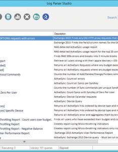 Figure log parser studio provides numerous queries for different use cases also admin magazine rh