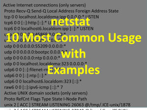 netstat usage and examples