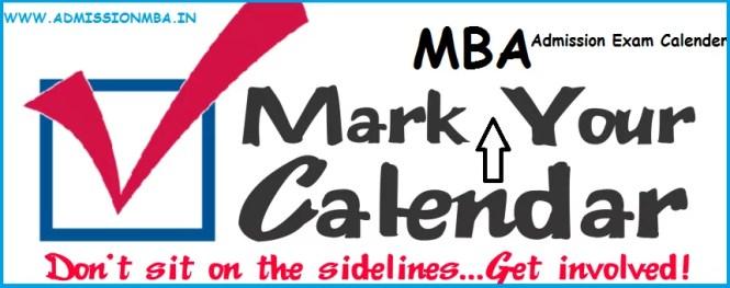 MBA Admission Exam Calendar