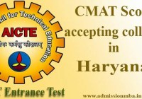 CMAT Score accepting colleges in Haryana