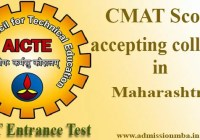 CMAT Score accepting colleges in Maharashtra