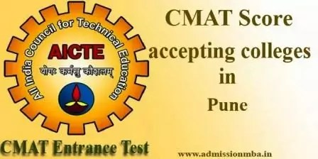 CMAT Score accepting colleges in Pune
