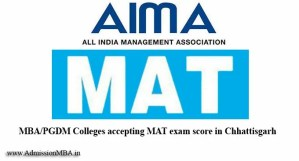 MBA Colleges Accepting MAT score in Chhattisgarh