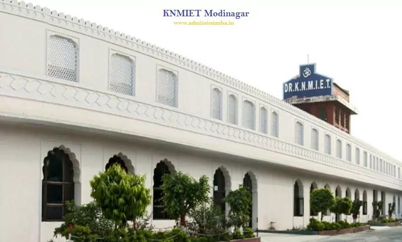 KNMIET Modinagar Admission 2020