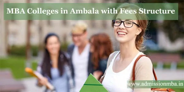 MBA Colleges in Ambala with Fees Structure