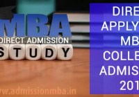 Direct Apply for MBA Colleges Admission 2018