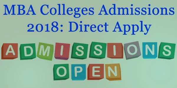 MBA Colleges Admissions 2018