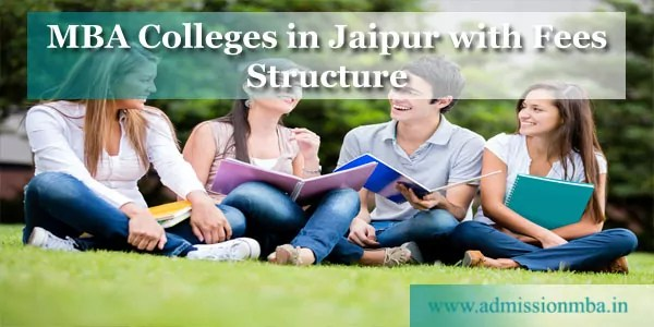 MBA Colleges Jaipur with Fees