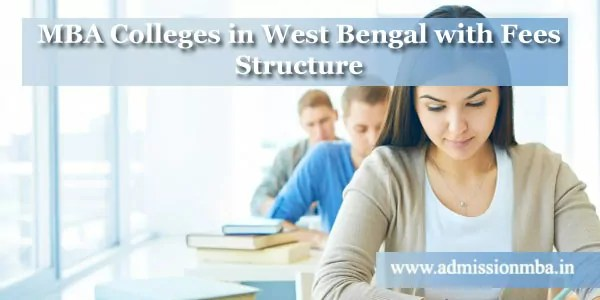 MBA Colleges West Bengal Fees Structure