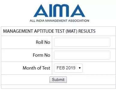 MAT Result February 2019