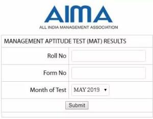 MAT Result May 2019 MAT