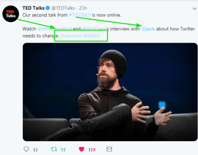 @JackDorsey at #TedTalK !!