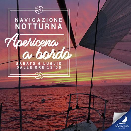 Esperienza di Navigazione Notturna con apericena a bordo