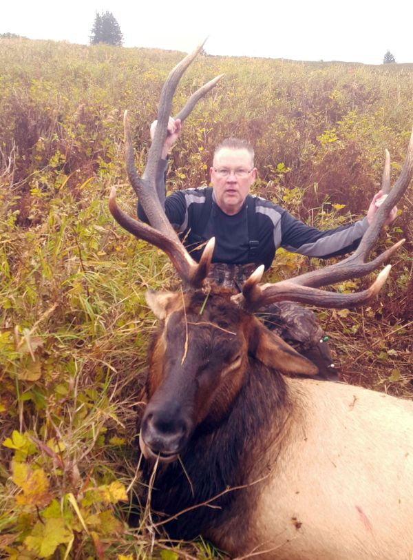 Afognak Tough Hunting Yields Magnificent Bull Elk