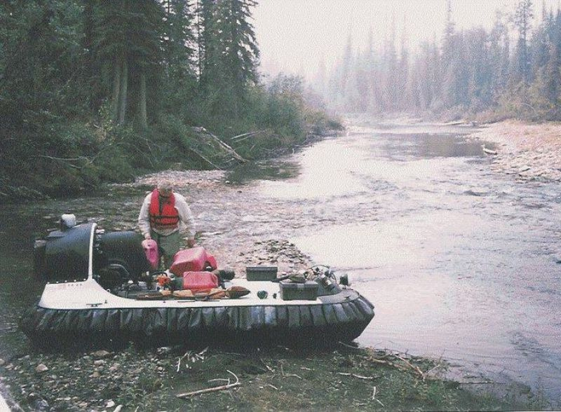 John Sturgeon with his hovercraft on the Nation River in the eastern Interior of Alaska. (Photo provided by John Sturgeon )