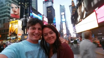 Times Square selfie