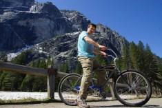 Adam bike riding at Yosemite