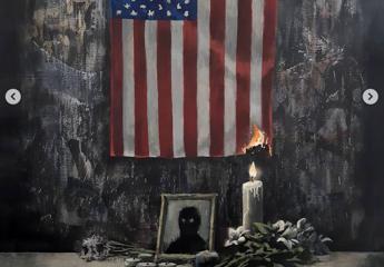 Banksy pubblica opera su George Floyd, 'il problema è dei bianchi'
