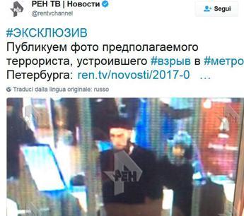 San Pietroburgo, tv russa: Ecco il sospetto attentatore