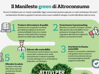 Altroconsumo lancia il 'Manifesto Green'