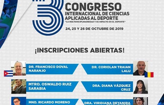 Conoce a los ponentes del Tercer Congreso Internacional de Ciencias Aplicadas al Deporte (20:15 h)