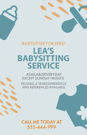 Once you find a graphic to start from, just tap or click to open the document in the editor. Free Babysitting Flyer Templates Adobe Spark