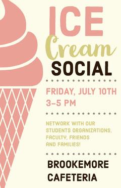 free ice cream poster templates adobe