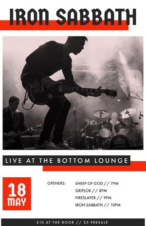 free concert poster templates adobe spark