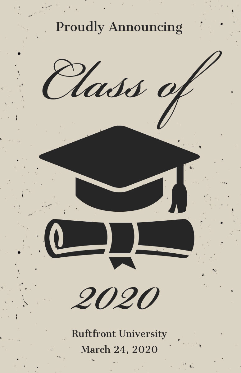graduation poster templates adobe spark