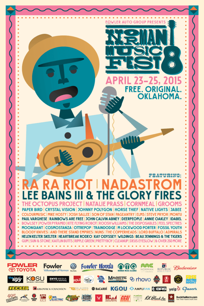 famous music festival posters to