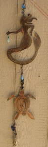 yard art, wind chime, mermaid