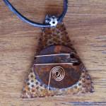 Pendant, triangle talisman