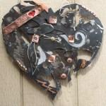 Scrap metal clock, broken things series, adobe dragon design studio