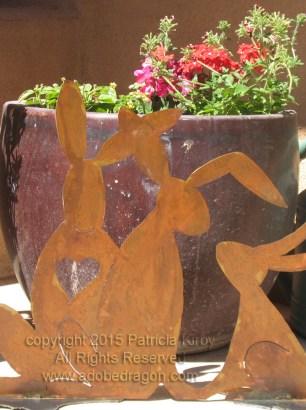 Bunny Ohana Metal Sculpture