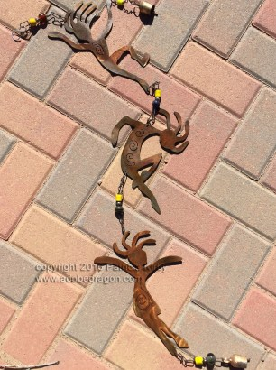 Kokopelli's Children Wind Chime adobe dragon design studio