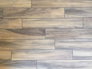 wood-look plank tile flooring from Mohawk