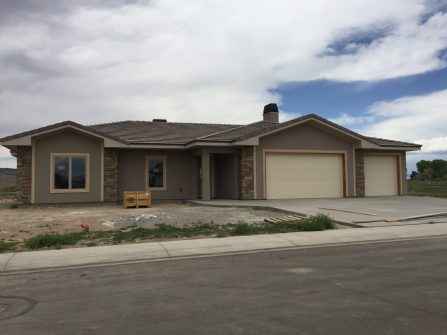Esterior of 1327 Eagle - New Construction in Fruita
