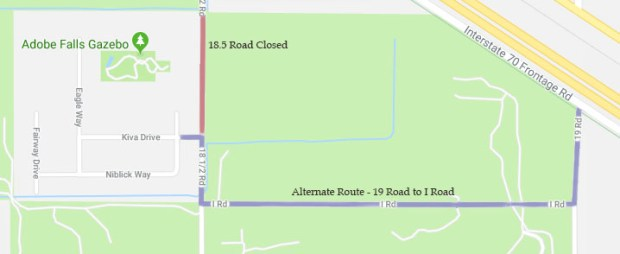 road closures - alternate route for August 2018