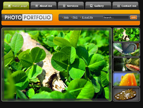 Create Photo Portfolio Web Layout in Photoshop CS3