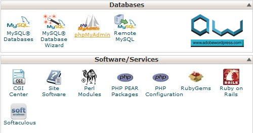 cPanel > Databases