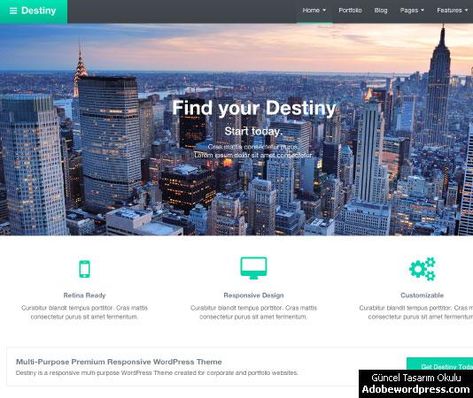Destiny WordPress Teması