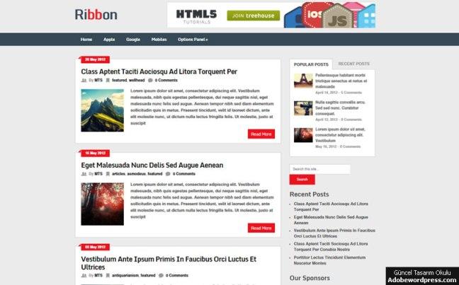 ribbon-wordpress-temasi